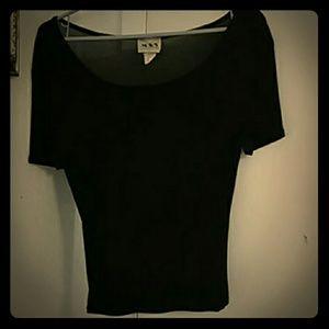 Vintage 90's Sheer Black T-Shirt